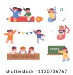 hand drawing style shape... | Shutterstock .eps vector #1130736767