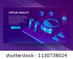 vr  augmented reality vector... | Shutterstock .eps vector #1130738024