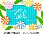 summer time beach vacation... | Shutterstock .eps vector #1130739035