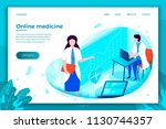 vector bright online health... | Shutterstock .eps vector #1130744357