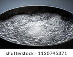 iron pot with boiling water | Shutterstock . vector #1130745371