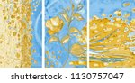 collection of designer oil... | Shutterstock . vector #1130757047