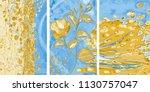 collection of designer oil... | Shutterstock . vector #1130757047