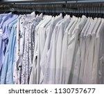 shop of men's shirts   business ... | Shutterstock . vector #1130757677