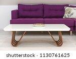 living room interior  loft... | Shutterstock . vector #1130761625