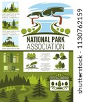 city park and garden landscape... | Shutterstock .eps vector #1130762159