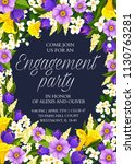 save the date wedding party... | Shutterstock .eps vector #1130763281