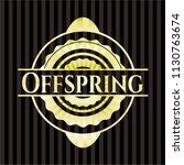 offspring golden emblem   Shutterstock .eps vector #1130763674