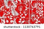 collection of designer oil... | Shutterstock . vector #1130763791