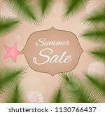summer sale. vector card. | Shutterstock .eps vector #1130766437