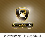 golden emblem or badge with... | Shutterstock .eps vector #1130773331