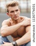 handsome american young model... | Shutterstock . vector #1130776031