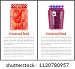 preserved food poster canned... | Shutterstock .eps vector #1130780957