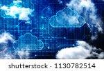 2d rendering cloud computing ... | Shutterstock . vector #1130782514