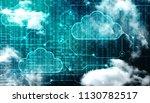 2d rendering cloud computing ... | Shutterstock . vector #1130782517