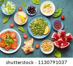 top view of middle eastern or... | Shutterstock . vector #1130791037