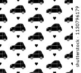 seamless pattern with black... | Shutterstock .eps vector #1130796179