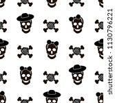 seamless pattern with black... | Shutterstock .eps vector #1130796221