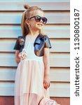 lifestyle portrait of stylish... | Shutterstock . vector #1130800187