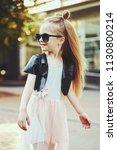 lifestyle portrait of stylish... | Shutterstock . vector #1130800214