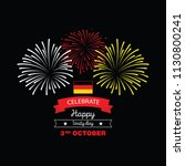 germany happy unity day  3 rd... | Shutterstock .eps vector #1130800241