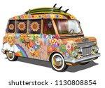 retro surf bus. | Shutterstock .eps vector #1130808854