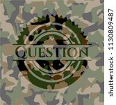 question on camouflaged pattern | Shutterstock .eps vector #1130809487