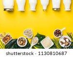 dairy free milk substitute... | Shutterstock . vector #1130810687