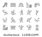 tennis icon set. included icons ... | Shutterstock .eps vector #1130812499