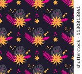 a seamless pattern with vector... | Shutterstock .eps vector #1130813861