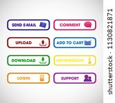 set of buttons for web. vector. | Shutterstock .eps vector #1130821871