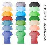 men's blank t shirts template. | Shutterstock .eps vector #113082319