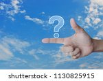question mark sign icon on... | Shutterstock . vector #1130825915