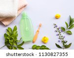 toothbrush bath towel and... | Shutterstock . vector #1130827355