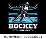 ice hockey player at the... | Shutterstock .eps vector #1130828171