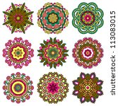 circle ornament set  ornamental ... | Shutterstock .eps vector #113083015