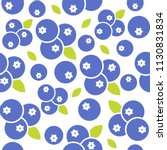 Blueberries Seamless Pattern...