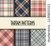 set of seamless tartan patterns | Shutterstock .eps vector #1130835311