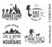 set of extreme adventure badges.... | Shutterstock .eps vector #1130842364