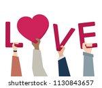 illustration of people in love | Shutterstock .eps vector #1130843657