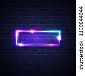 realistic led neon lights frame.... | Shutterstock .eps vector #1130844044