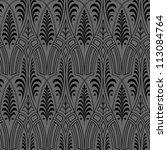 seamless black wallpaper pattern   Shutterstock .eps vector #113084764