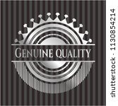 genuine quality silver badge or ... | Shutterstock .eps vector #1130854214