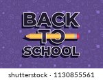 back to school doodles... | Shutterstock .eps vector #1130855561