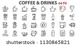 coffee icons set. big pack | Shutterstock .eps vector #1130865821