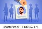 human recruitment vector. man....   Shutterstock .eps vector #1130867171