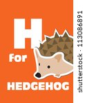 H For The Hedgehog  An Animal...