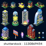 night city isometric icons with ...   Shutterstock .eps vector #1130869454