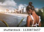 rear tilt shift view with... | Shutterstock . vector #1130873657