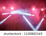 red light  smoke  floodlight on ... | Shutterstock . vector #1130882165